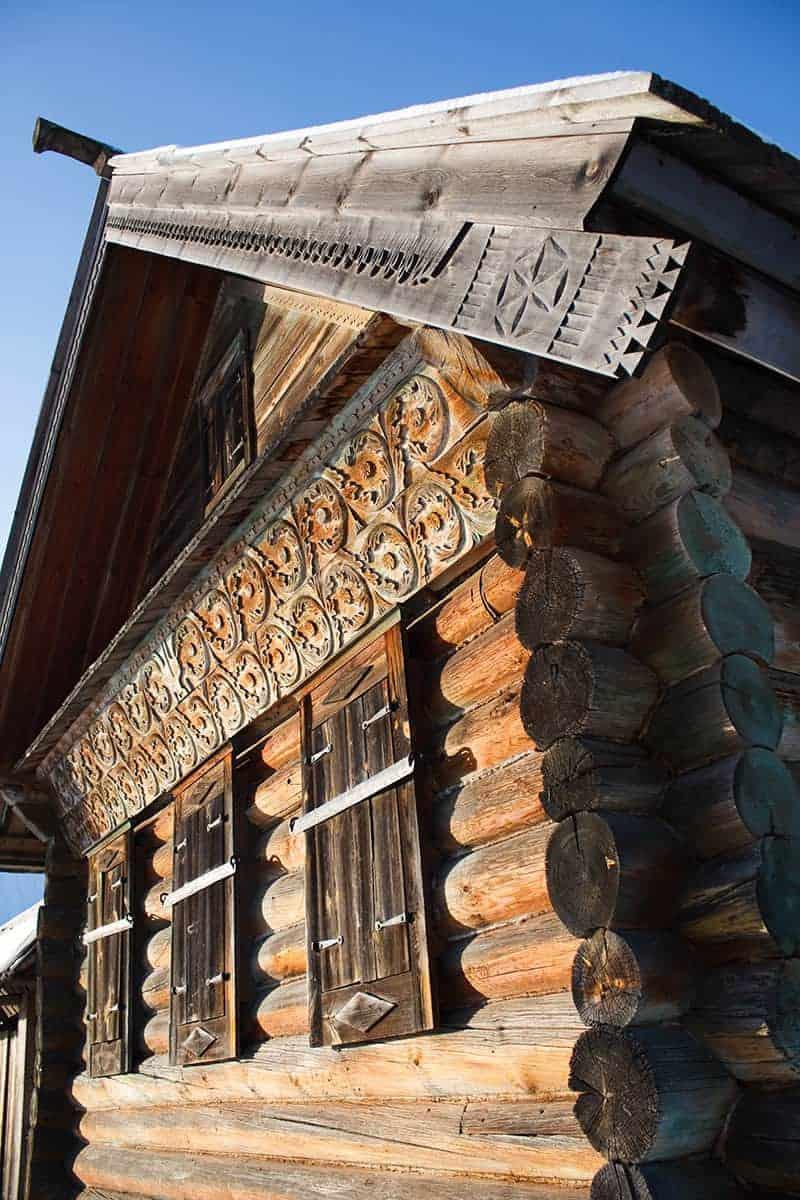 Dom z bala drewnianego