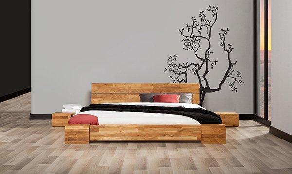lozko sypialnia na poddaszu SETI wild oak