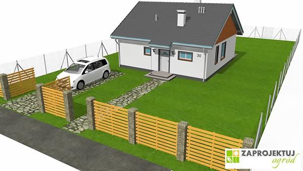 Projekt ogrodu - dom Zosia MGProjekt