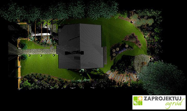 Projekt ogrodu - Zaprojektuj-Ogrod.pl Projekt domu Zosia - MGProjekt