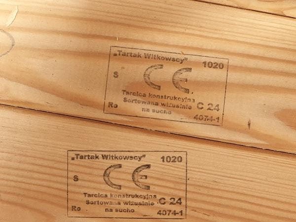 drewniana konstrukcja dachu certyfikat ce