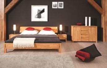 mała sypialnia łóżko