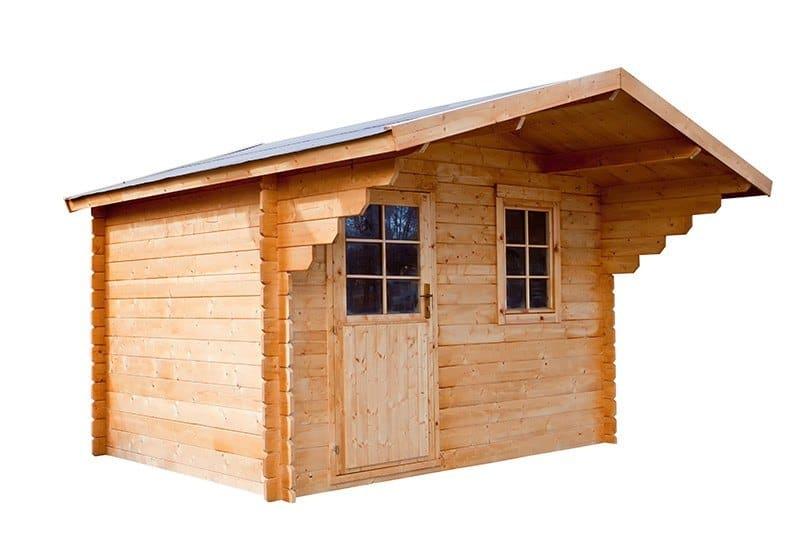 Drewniany domek wolnostojacy