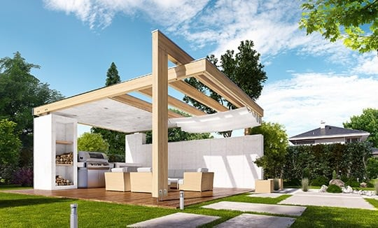 Altana ogrodowa projekt