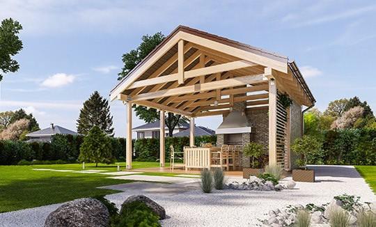 Projekt altany ogrodowej