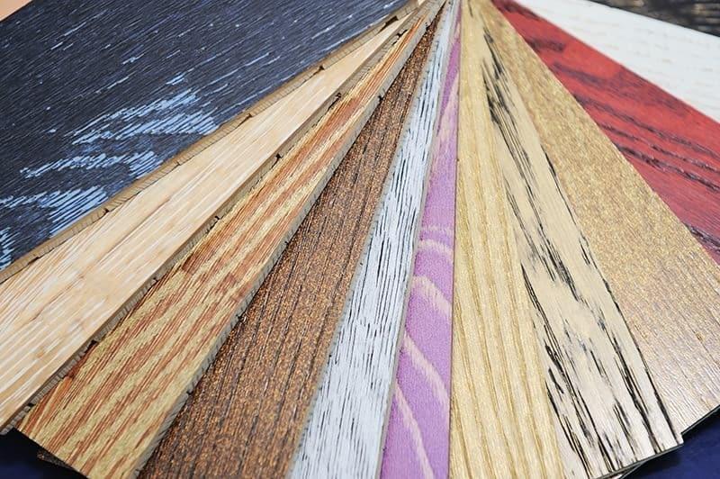 Kolory okładzin drewnianych