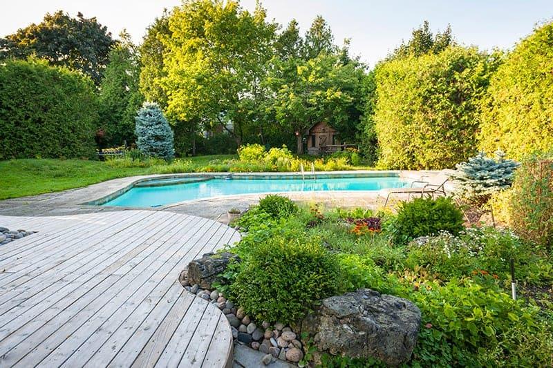 Usytuowanie basenu w ogrodzie