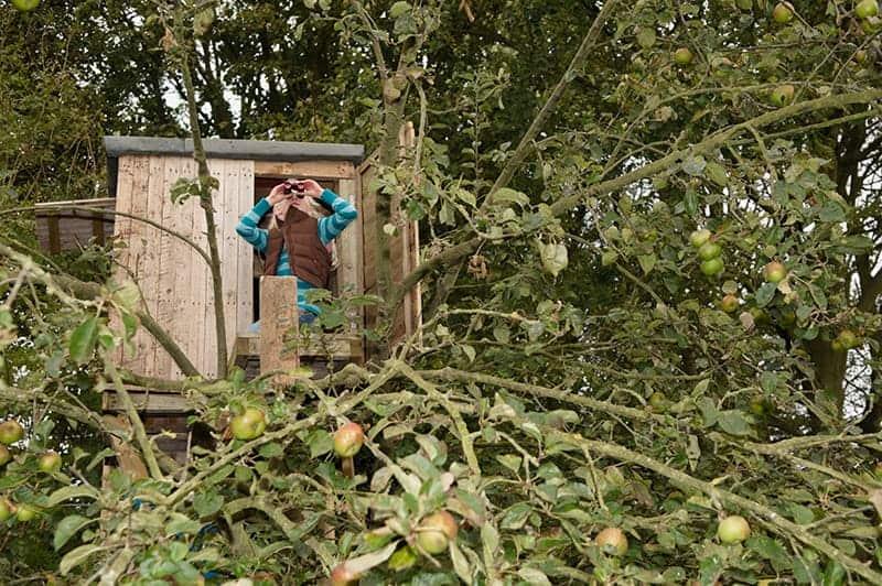 Bezpieczny domek na drzewie