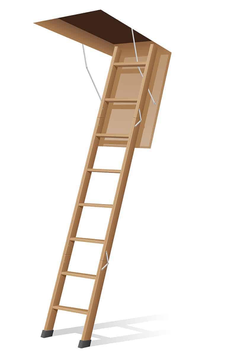 Schody strychowe drewniane