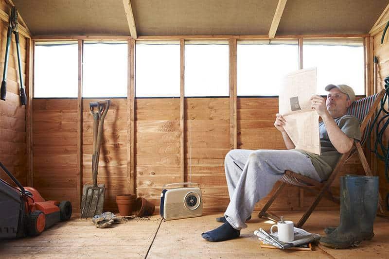 Domek narzędziowy drewniany
