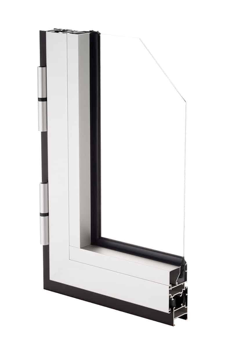 Okno aluminiowe przekrój