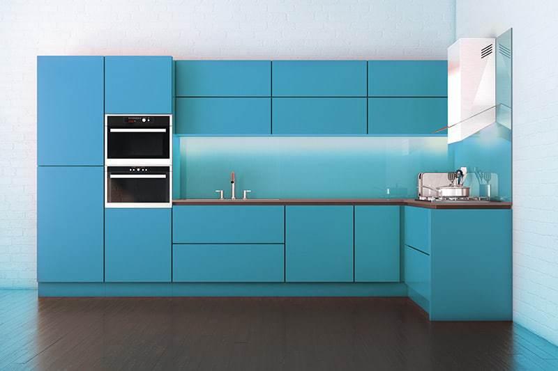 Wybitny Szkło Lacobel w kuchni: cena, parametry i kolory szkła lakierowanego DL82