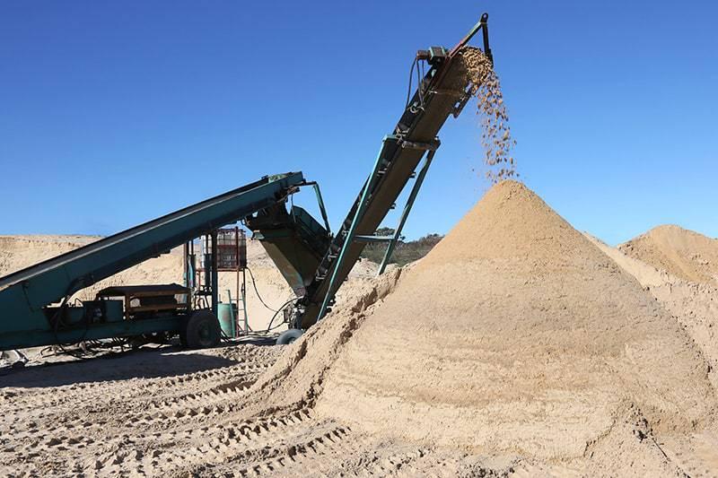 Kruszywa budowlane piasek