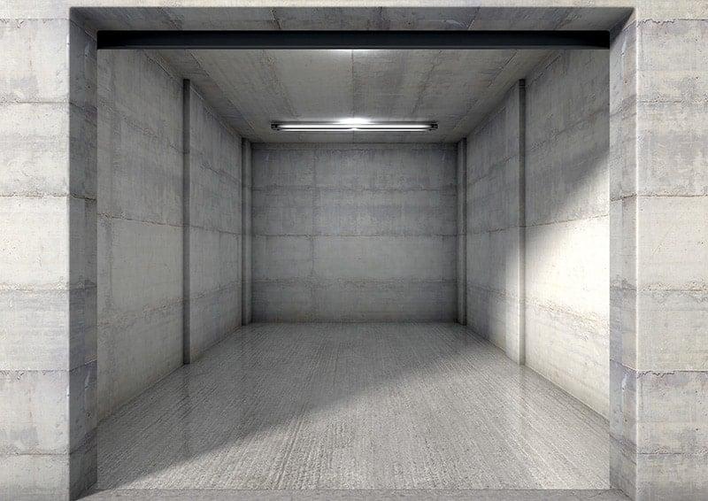 Garaż z płyt betonowych