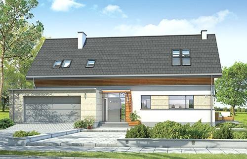 Projekty domów z garażem dwustanowiskowym