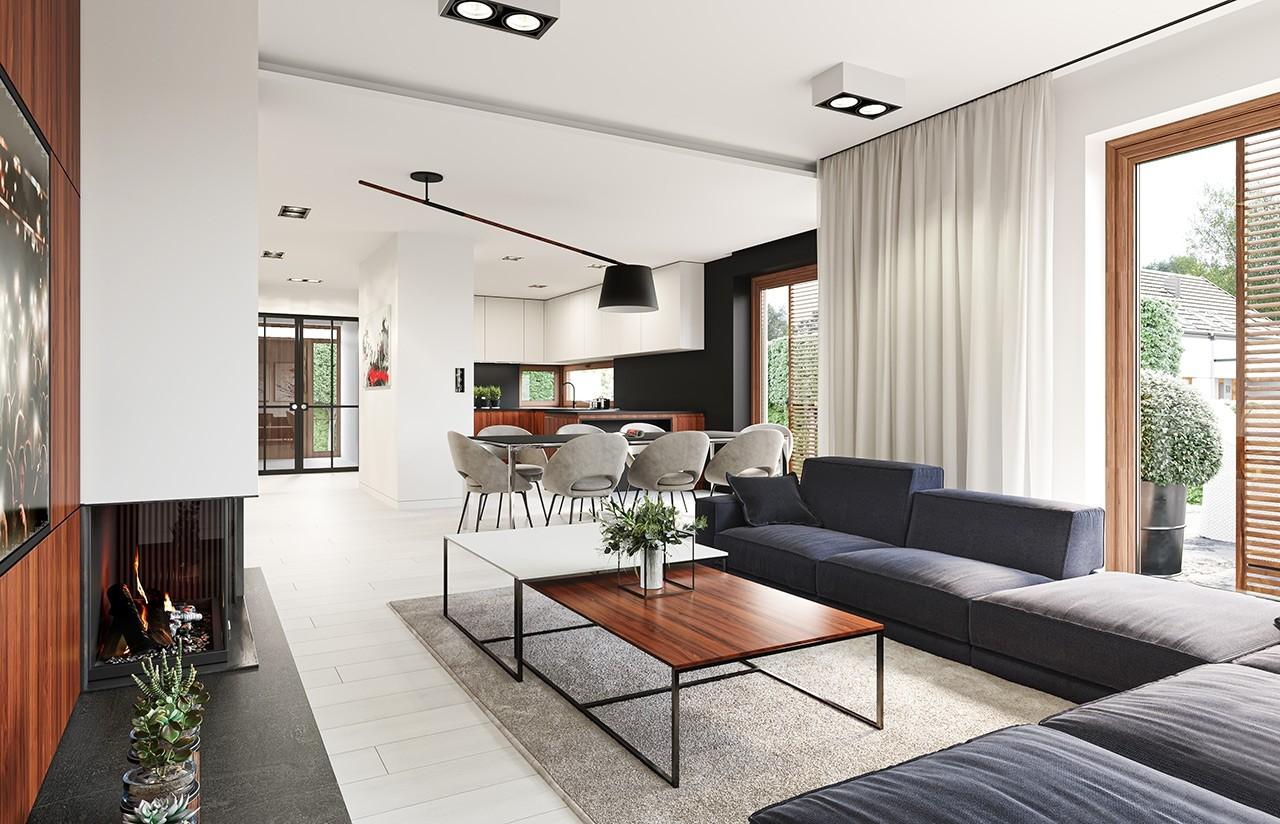Projekt domu Wąski - wnętrze
