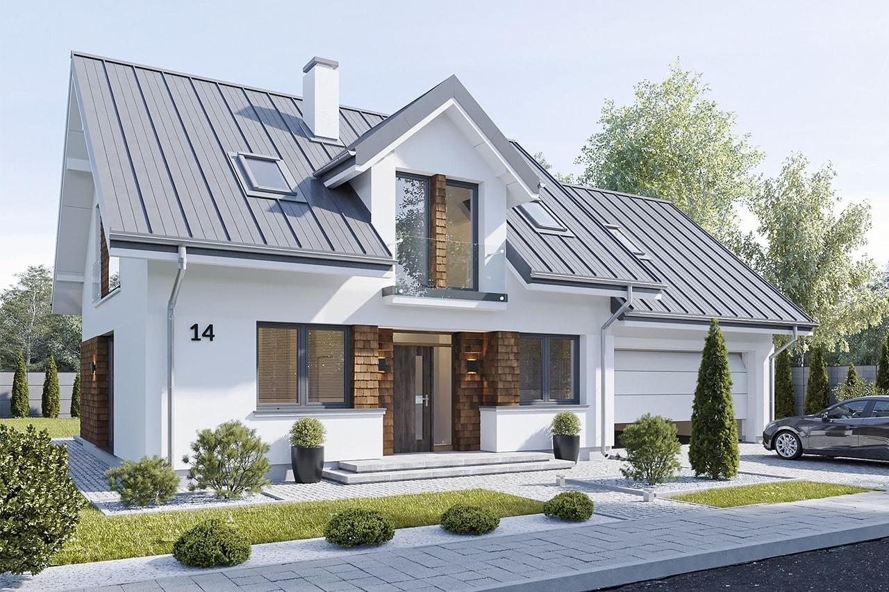 Projekt domu Narcyz 2 - wizualizacja frontu
