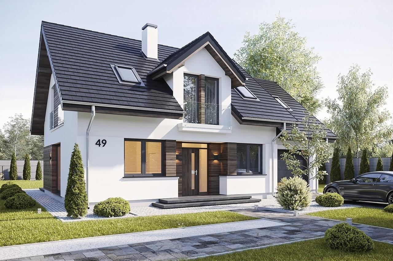 Projekt domu Narcyz 3 - wizualizacja frontu