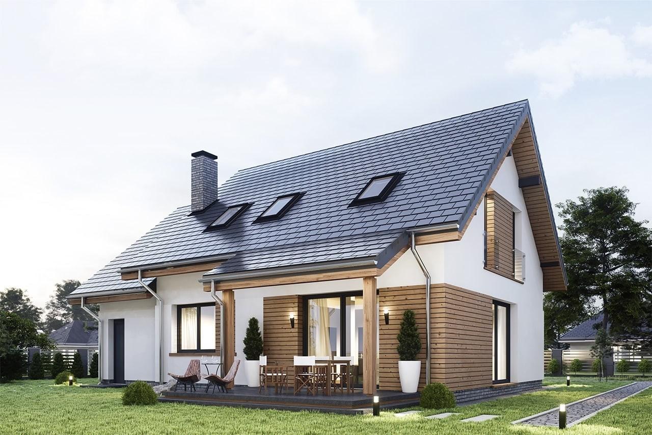 Projekt domu Narcyz 4 - wizualizacja tylna