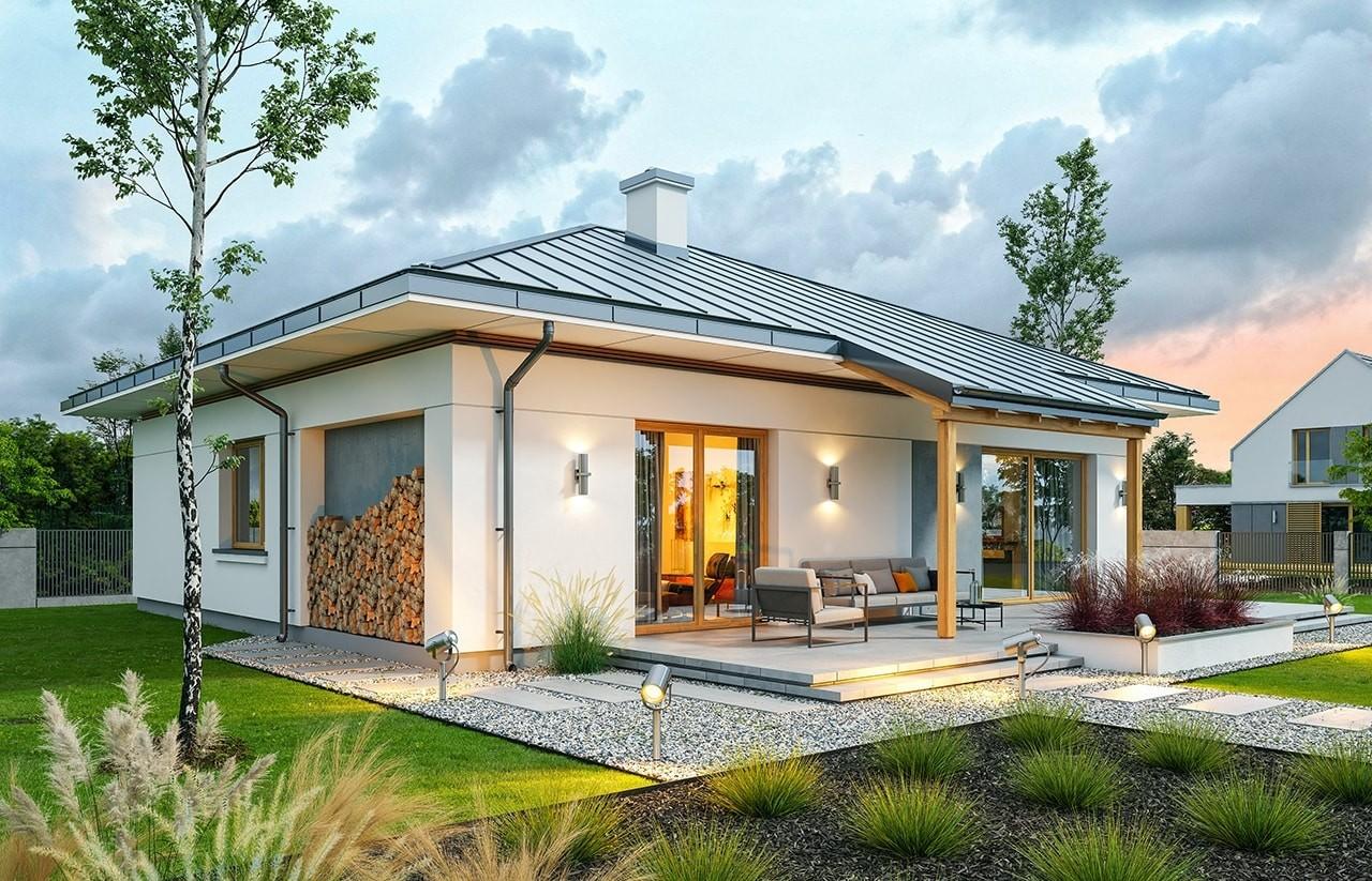 Projekt domu Wspaniały 3 - wizualizacja tylna