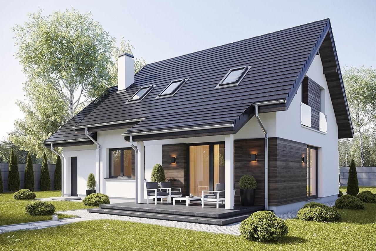 Projekt domu Narcyz 3 - wizualizacja tylna