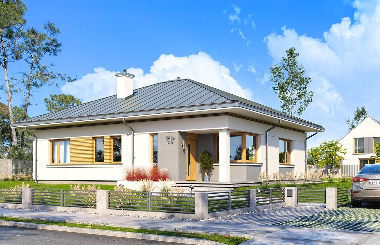 Projekt domu Wspaniały 3 - wizualizacja frontu odbicie lustrzane