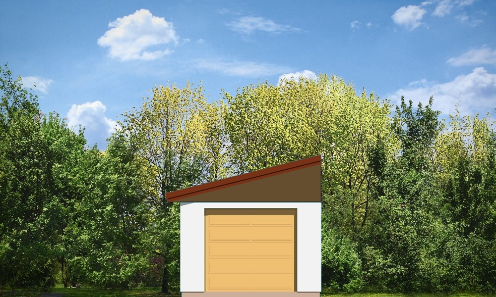 Garaż BG03 odbicie lustrzane