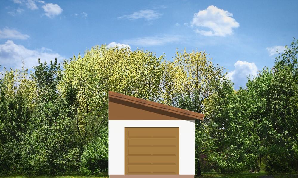 Garaż BG09 - elewacje