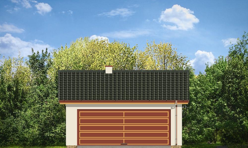 Garaż BG13 - elewacje