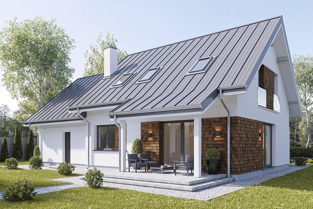 Projekt domu Narcyz 2 - wizualizacja tylna