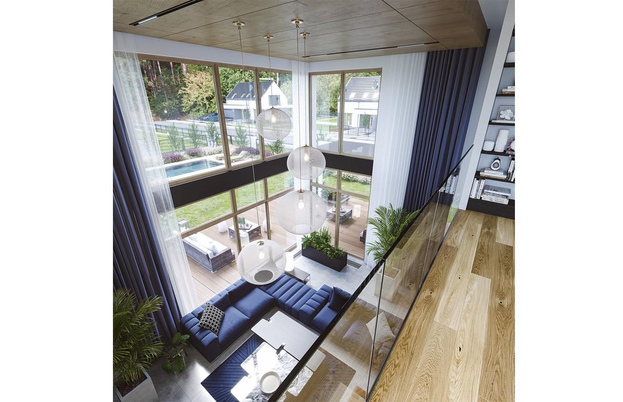 Wnętrze domu Willa moderna odbicie lustrzane