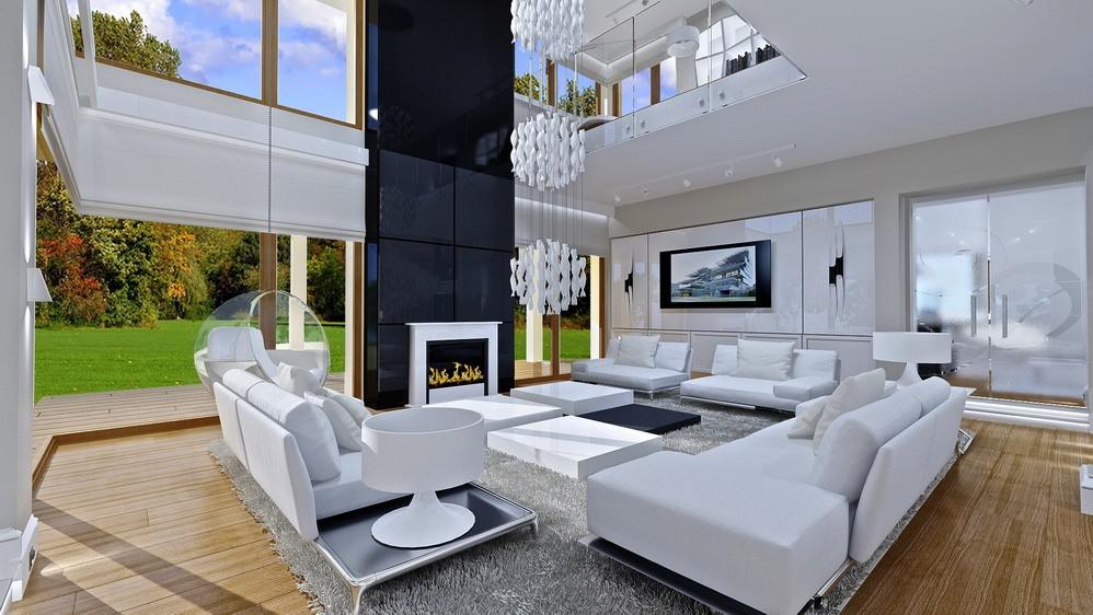 Wnętrze domu Dom z widokiem