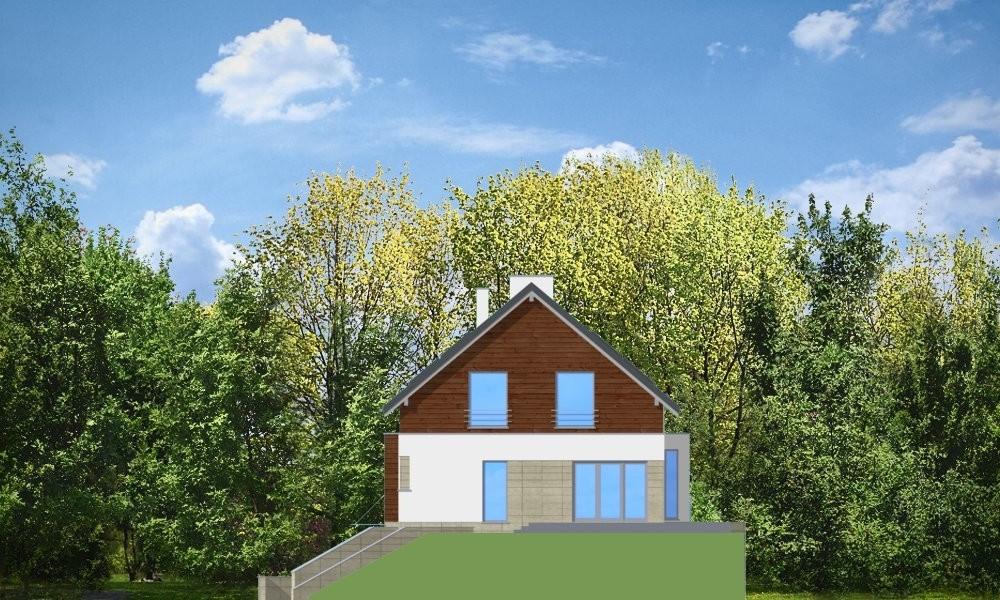 Dom na górce - elewacja boczna odbicie lustrzane