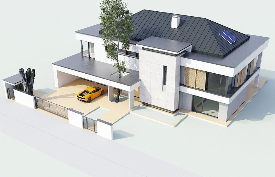 Projekt domu Willa Floryda odbicie lustrzane