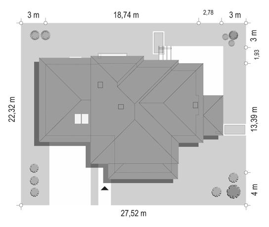 Dom z widokiem 6 - sytuacja odbicie lustrzane