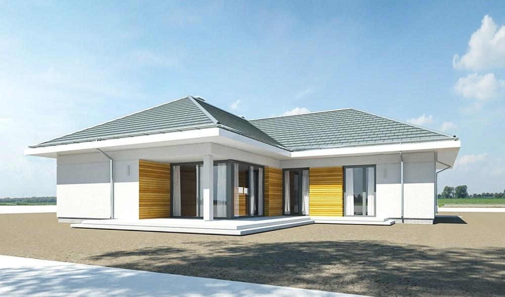 Projekt domu Parterowy - wizualizacja odbicie lustrzane