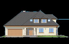 Projekt domu Agnieszka 2 wariant C - Olej odbicie lustrzane