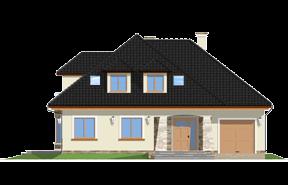 Projekt domu Agnieszka 2 - OLEJ - wizualizacja frontowa
