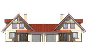 Projekt domu Alicja wariant B odbicie lustrzane