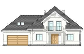 Projekt domu Amanda wariant B - wizualizacja frontowa