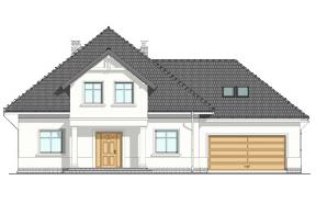Projekt domu Amanda wariant C - wizualizacja frontowa odbicie lustrzane