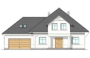 Projekt domu Amanda wariant C - wizualizacja frontowa