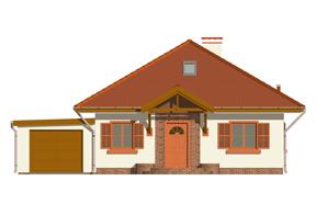 Projekt domu Ambrozja wariant C odbicie lustrzane