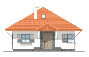 Projekt domu Ambrozja wariant D odbicie lustrzane