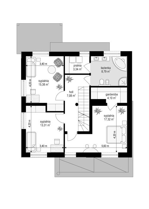 Artemida - rzut piętra odbicie lustrzane