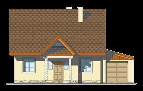Projekt domu Bajkowy wariant B odbicie lustrzane