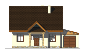 Projekt domu Bajkowy wariant D odbicie lustrzane