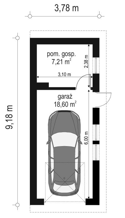 Garaż BG03 - rzut parteru