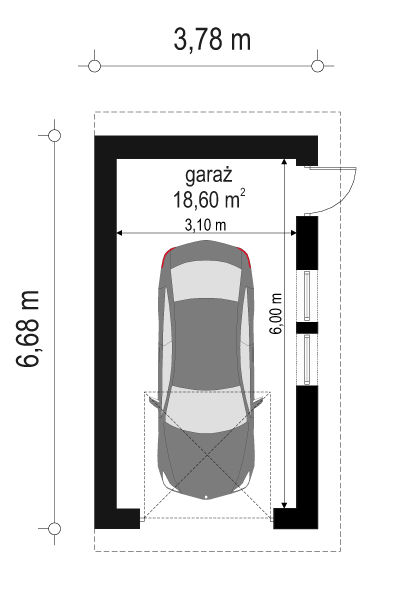 Garaż BG09 - rzut parteru