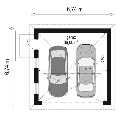 Garaż BG100 - rzut parteru